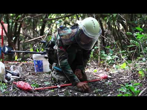 Clear Mine One By One in cambodia - How to remove landmine - with Akira explanation