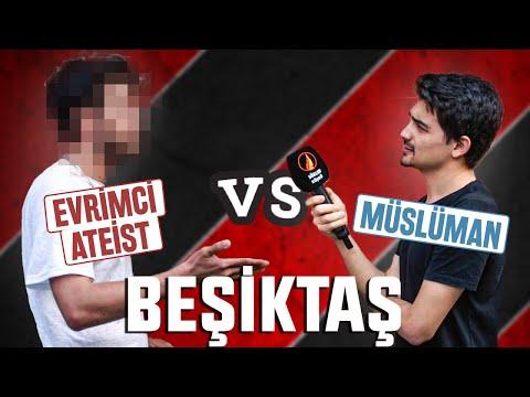 BEŞİKTAŞ'TA Evrimci Ateist İle Müslüman Gencin Tartışması - İman Etti Mi?