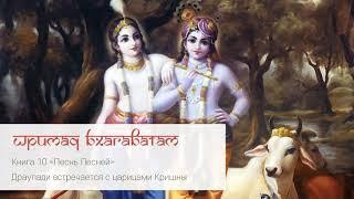 10 83 Драупади встречается с царицами Кришны