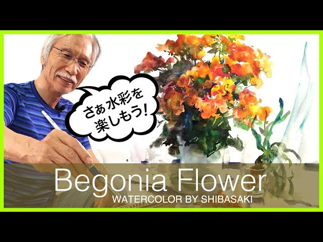 [Eng sub] Begonia Flower Watercolor Painting ????????????