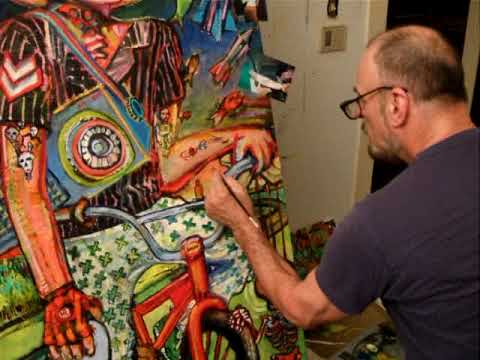 Charles Barbier paints Hunter Roth