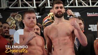 Canelo Álvarez y Rocky Fielding dan el peso y están listos para la pelea | Telemundo Deportes