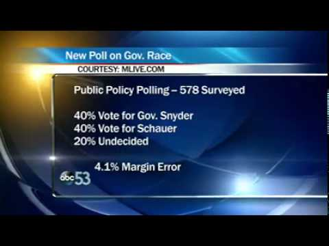 WLAJ PPP Poll Schauer and Snyder Tied