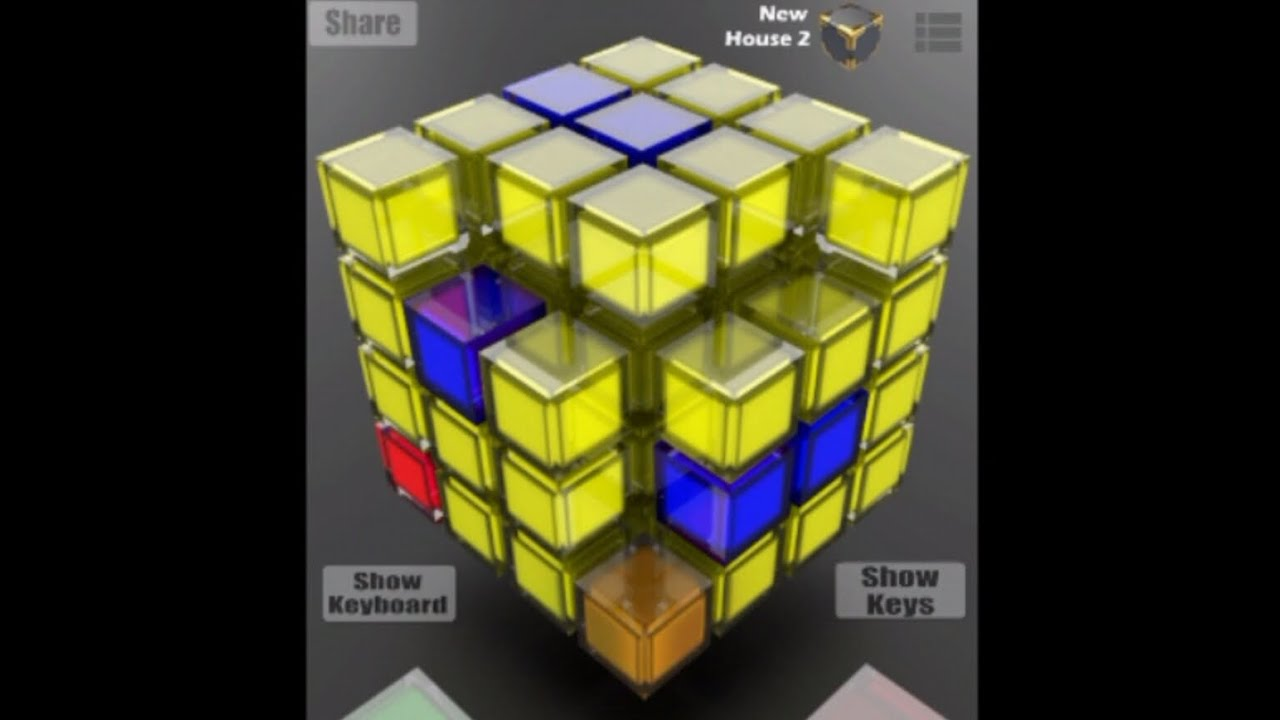 Make your own house style dance music ButtonBass House Cube app by