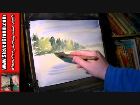 Black Brook, Weeford Part 1 of 2 Watercolour Landscape Painting Tutorial
