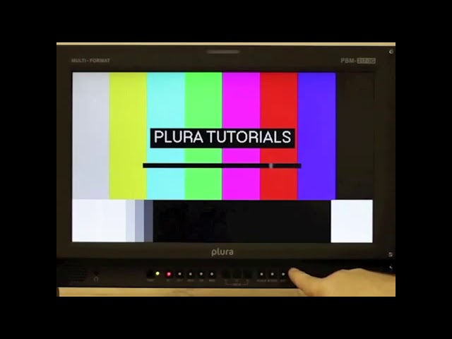 PLURA Tutorials: Display Time Codes on a PBM Monitor