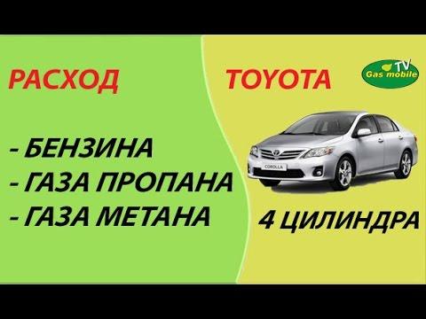 Расход бензина, газа (пропан - бутан, метан) на 4-х цилиндровом авто.