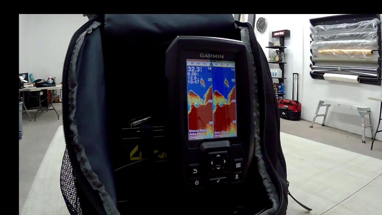 Garmin striker 4 portable sonar review youtube for Garmin striker 4 ice fishing