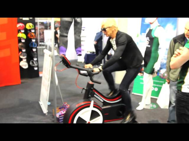 Wattbike on the Triathlon Ireland stand at the Irish Cycle Show 2015 - Unravel Travel TV