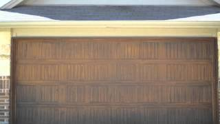 Faux Wood Garage Doors!