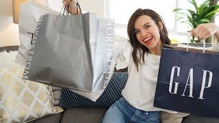 LIVE Spring Haul! Zara, Topshop, Gap, Nordstrom + More! | Ingrid Nilsen