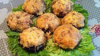 Фаршированные Шампиньоны / Грибы с Фаршем / Stuffed Champignons / Простой Пошаговый Рецепт
