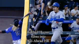 Robbed Home Run turns into go-ahead inside-the-park-homer, a breakdown