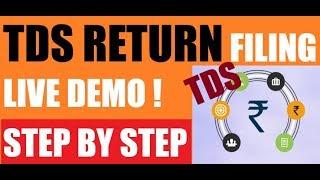 How to file TDS Return | TDS RETURN FILING PROCESS | FORM 24Q & 26Q | STEP BY STEP Live Demo  🔥🔥🔥