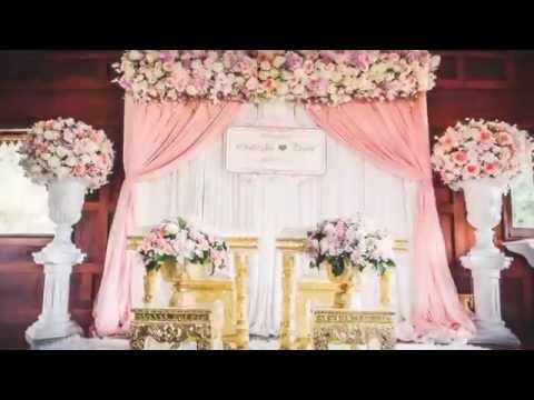 Thai Wedding Setup จัดดอกไม้งานแต่งงาน แบ็คดร๊อป แจกันดอกไม้ ซุ้มดอกไม้ เรือนไทยสิริ