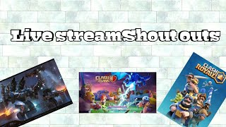 ♦️Streams shout outs♦️