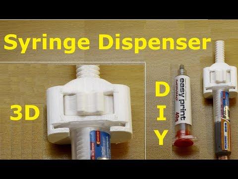 DIY syringe dispenser - 3D printed