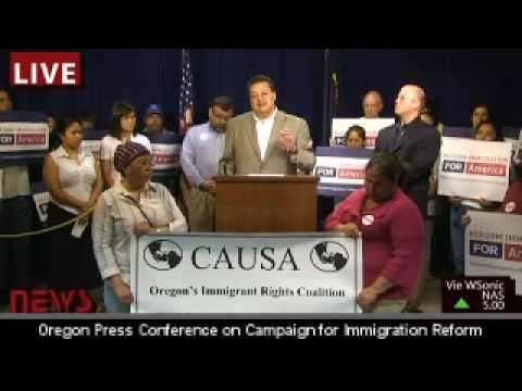 Oregon Press Briefing on Comprehensive Immigration Reform