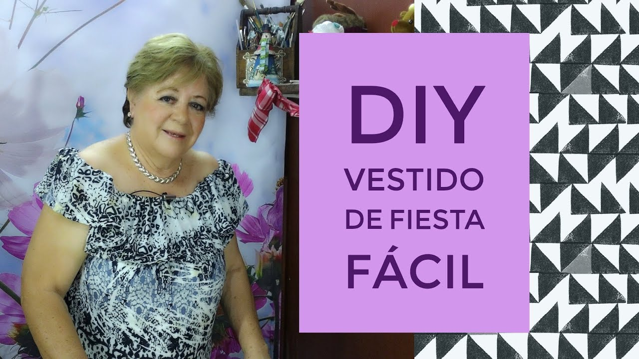 DIY - VESTIDO DE FIESTA FÁCIL // EASY PARTY DRESS - YouTube