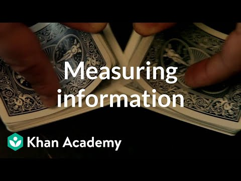Measuring information | Journey into information theory | Computer Science | Khan Academy