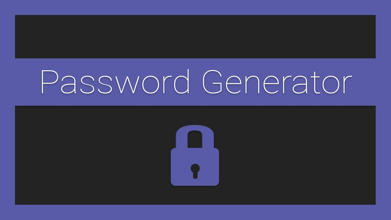 JavaScript Password Generator