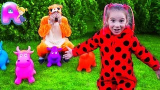 Peek A Boo Song  | Let's play with Anna Kids