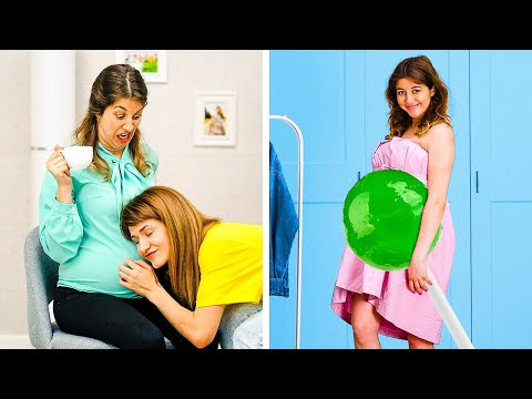 20-funny-things-about-pregnancy-||-sneaky-maternity-hacks