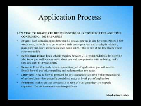 mba admissions application resume manhattan review admissions