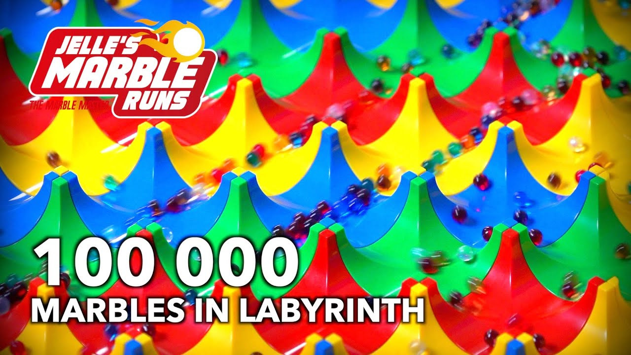 ASMR Marble Run: 100,000 mini marbles in Labyrinth