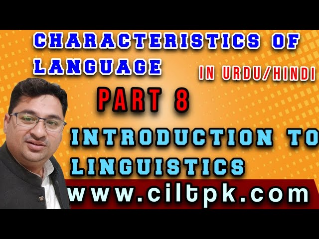 Characteristics of language 8 in Urdu Hindi