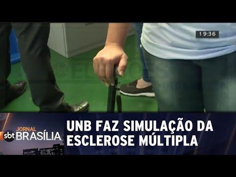 UnB monta casa para simular dificuldades da esclerose múltipla   Jornal SBT Brasília 30/08/2018