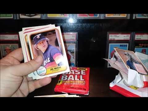 Unwrapping 3x 1981 Premier Edition Fleer Baseball Card Packs