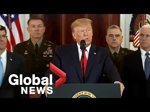 """Trump imposes """"powerful sanctions"""" on Iran following ballistic missile attack 