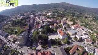 Vista aérea da vila de Vieira do Minho