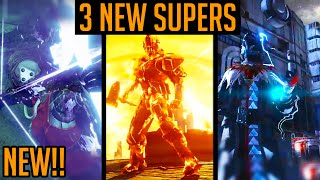 Destiny  New Supers All Characters - Warlock, Titan & Hunters New Super