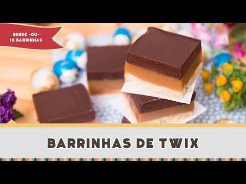 Barrinha de Twix (Caseiro) - Receitas de Minuto #249