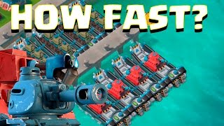 HOW FAST ARE YOU? | Boom Beach | SCORCHER TANKS ATTACKS