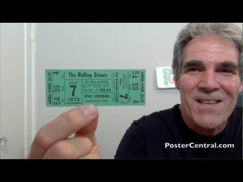 Rolling Stones Whole, Unused Concert Tickets – 1972 Barnstorming Tour