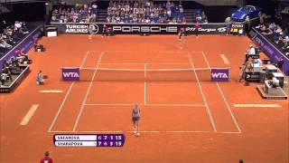Lucie Safarova vs Maria Sharapova April 2014Porsche Tennis Grand Prix 2014