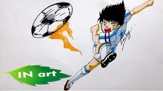 Menggambar Tsubasa. Drawing Tsubasa.