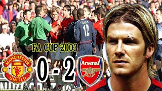 Manchester United v Arsenal 0 - 2 FA cup 2003 / Beckham injured eyebrow