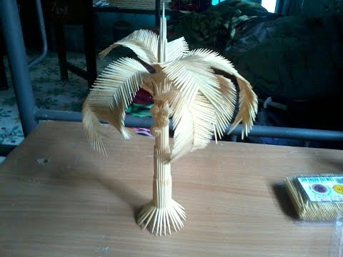 Tutorial Detailed palm tree with toothpicks