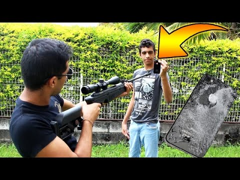 ON TIRE SUR UN IPHONE AVEC UN SNIPER !