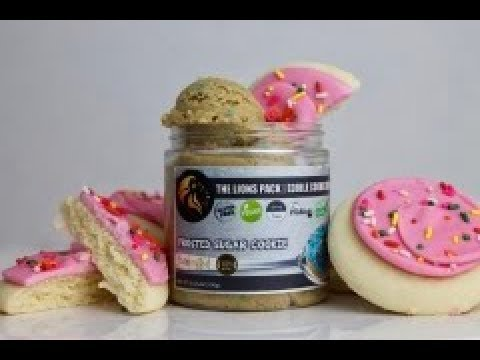 Honest Reviews The Lions Pack Edible Cookie Dough Frosted Sugar Cookie