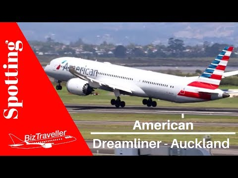 American Airlines Dreamliner Auckland Departure To Los Angeles