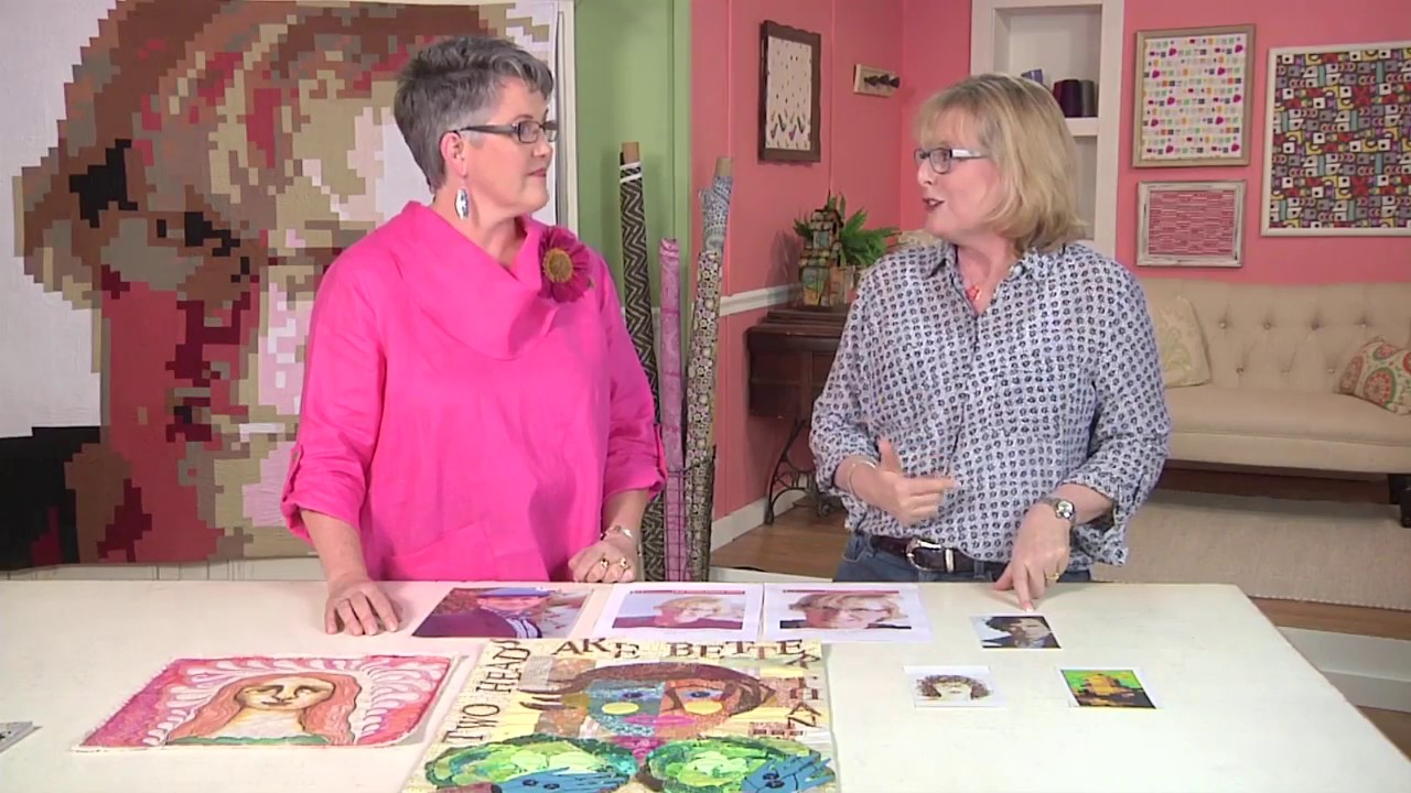 Quilting Arts TV - Episode 1805 Preview - Portrait Quilts - YouTube : portrait quilts - Adamdwight.com