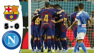 Barcelona vs napoli latest games all goals and extended highlights