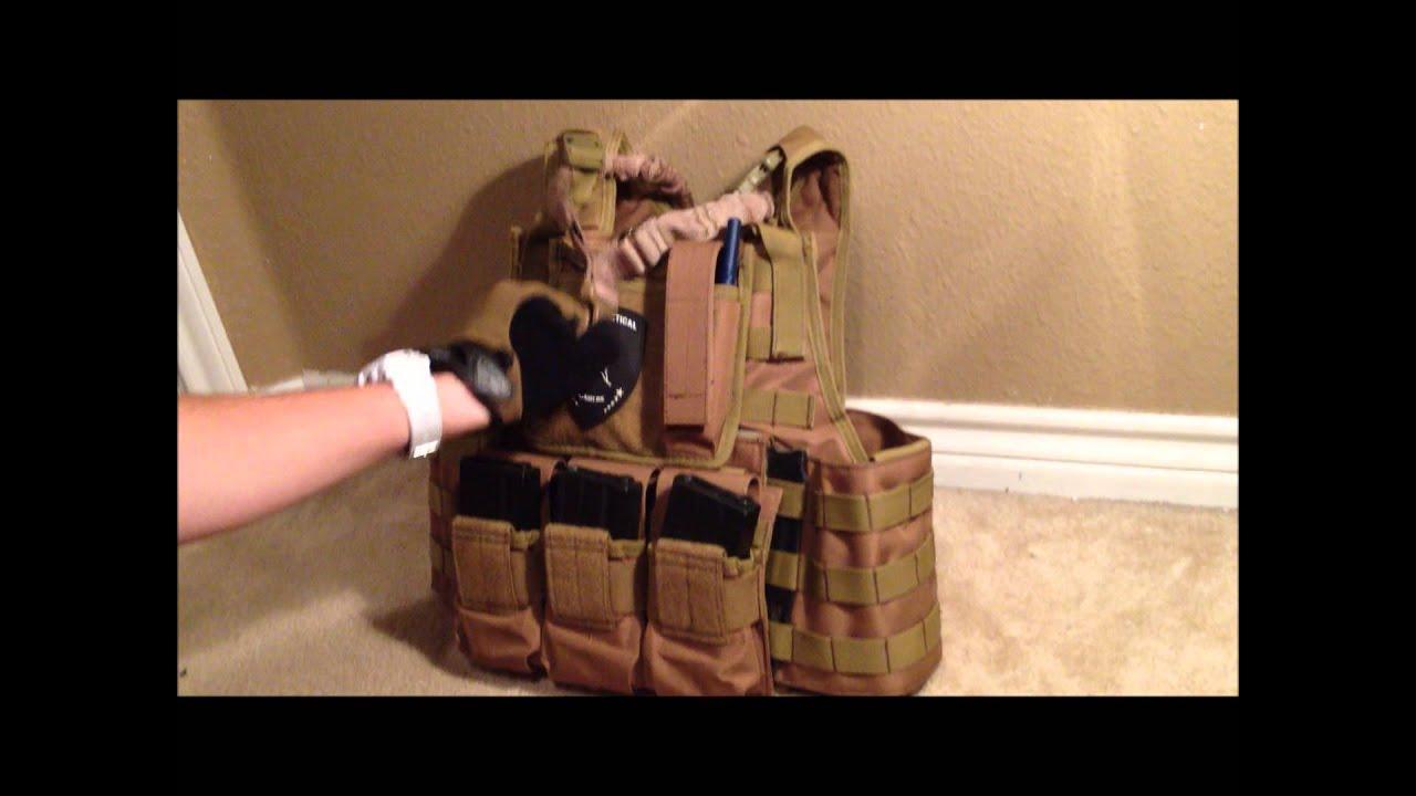 Lancer Tactical Plate Carrier Tan Setup Reveiw My