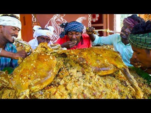 MUTTON BIRYANI | 2 FULL GOAT Biryani recipe cooking and eating in village | Arabic Full Goat Cooking