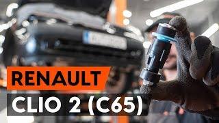Cómo cambiar Bieleta de barra estabilizadora RENAULT CLIO II (BB0/1/2_, CB0/1/2_) - vídeo guía